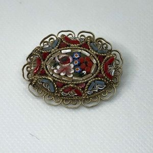 Vintage Beautiful Mosaic Brooch